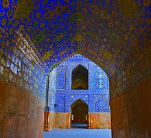 Corridors - Imam Mosque - Esfahan - Iran by Bryan Freeman