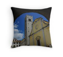 Church in Motovun Throw Pillow