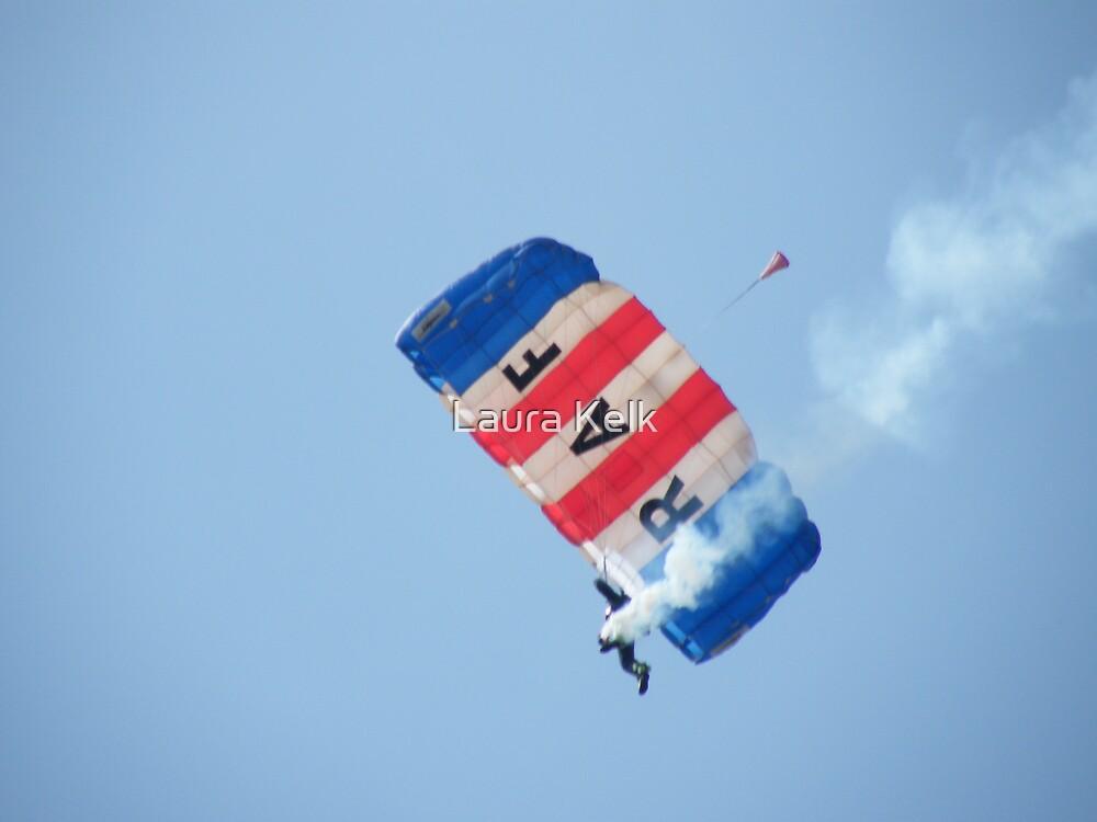 The RAF Falcons Freefall Parachute Display Team 2 by Laura Kelk