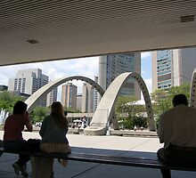 Toronto City Hall at Lunch by theblueribbon