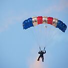 The RAF Falcons Freefall Parachute Display Team 3 by Laura Kelk