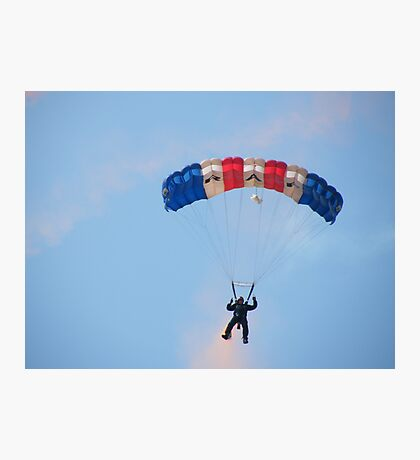 The RAF Falcons Freefall Parachute Display Team 3 Photographic Print