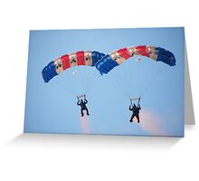 The RAF Falcons Freefall Parachute Display Team 4 Greeting Card