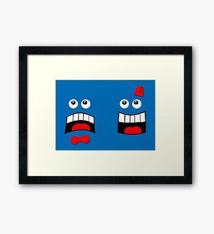 Dr FACE Framed Print