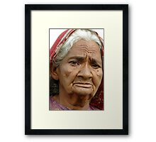 Indian Grandma Framed Print
