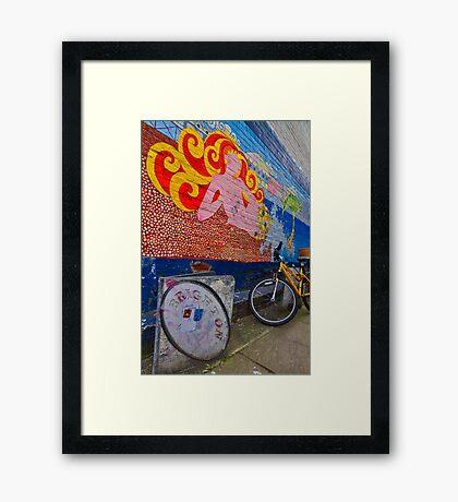 Brighton By Bike - England Framed Print
