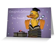 Congratulations, You Passed Greeting Card
