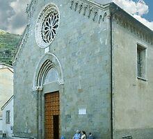 Manarola, Italy in The Cinque Terre by Bob  Perkoski
