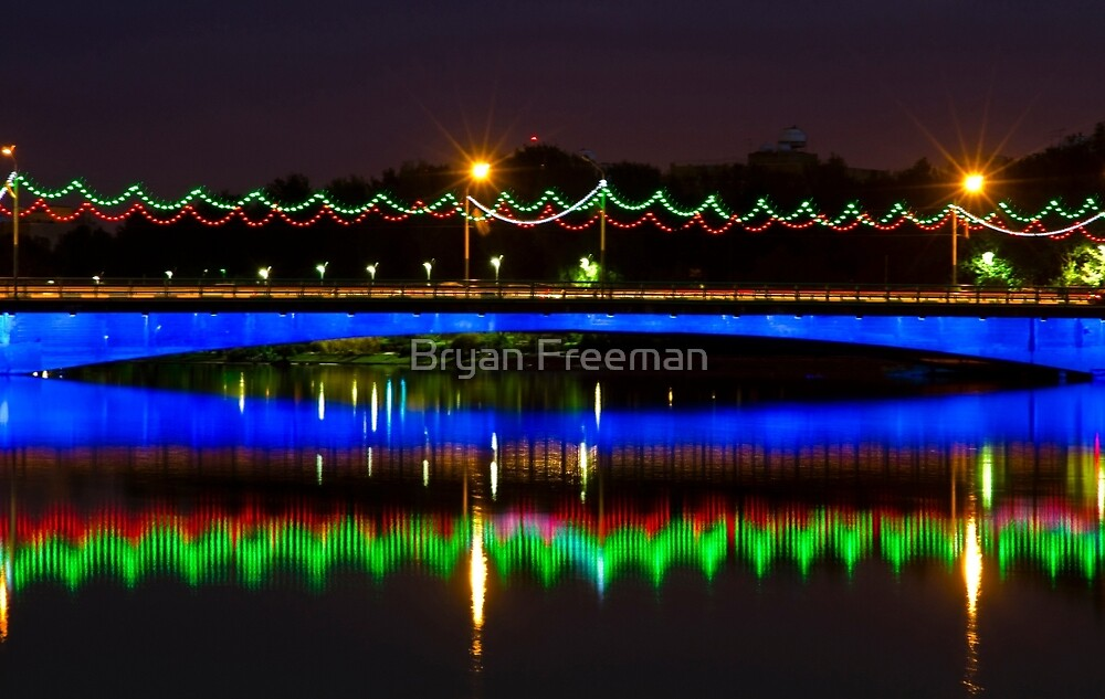 Single Arch - Ferdowsi Bridge - Esfahan - Iran by Bryan Freeman