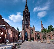 Coventry Cathedral, England by dlsmith