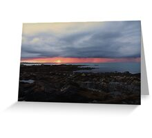 Rainy Sunset in the distance Greeting Card