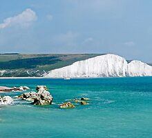 The Seven Sisters from Hope Gap  by Colin  Williams Photography