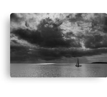 Sailing, stormy waters Canvas Print