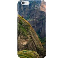 Climbers of the holy rocks - Meteora iPhone Case/Skin