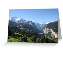 Lauterbrunnen Valley  Greeting Card