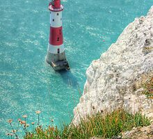 The Lighthouse from Beachy Head - HDR by Colin  Williams Photography