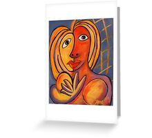 If Picasso Had Top Models #3: Paparazzi Bait Greeting Card