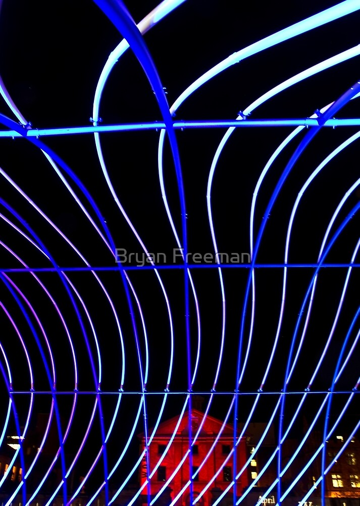 Macquarie Street - Sydney - Vivid Festival by Bryan Freeman