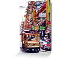 Chinatown Streetcar Greeting Card