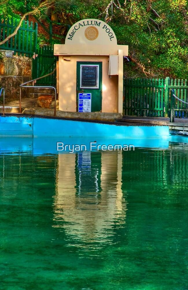 Pool Hut - MacCallum Pool - Cremorne Point - Sydney Australia by Bryan Freeman