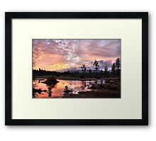 Sunset at Rough and Ready Framed Print