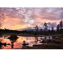 Sunset at Rough and Ready Photographic Print