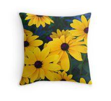 Yellow Posies Throw Pillow