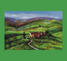 TUSCANY LANDSCAPE WITH GREEN HILLS Kids Clothes