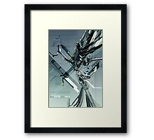 Technoabstract - Teal Framed Print