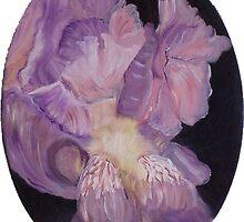 Lavender Iris Study by Mikki Alhart