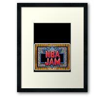NBA Jam Genesis Megadrive Sega Start menu screenshot Framed Print