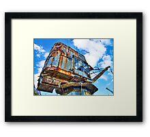 Grunge Crane - Cockatoo Island - Sydney Framed Print