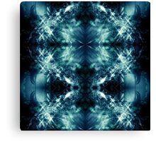 Technoabstract - Sapphire Canvas Print