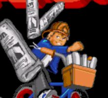 Paperboy Genesis Megadrive Sega Start menu screenshot Sticker