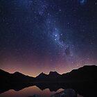 Cradle Aurora - Cradle Mountain Tasmania by Mark Shean