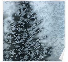 Nature's Christmas Tree - Abstract Winter Scape  Poster