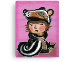 Skunk, my favourite animal is a skunk Canvas Print