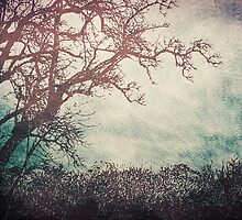 I Like Trees...  - Vintage Grunge Landscape Art  by Denis Marsili - DDTK