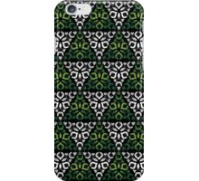 Modern - Triangles of Silver and Green iPhone Case/Skin