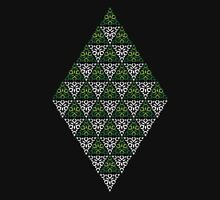 Modern - Triangles of Silver and Green Unisex T-Shirt