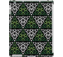 Modern - Triangles of Silver and Green iPad Case/Skin