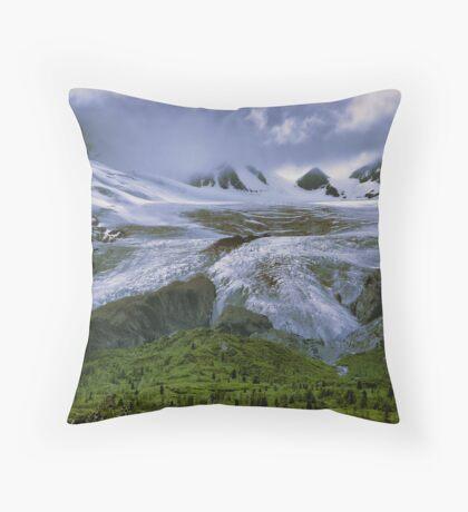 Worthington Glacier, Alaska Throw Pillow