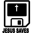 JESUS SAVES - RETRO by Calgacus