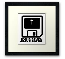 JESUS SAVES Framed Print