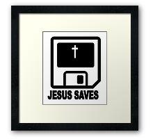 JESUS SAVES Framed Print