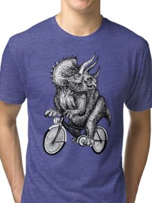 Triceratops Ride Bicycle  Tri-blend T-Shirt