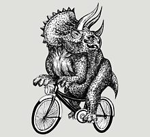 Triceratops Ride Bicycle  Unisex T-Shirt
