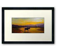 Golden Serenity Framed Print