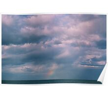 rainbow sea view Poster