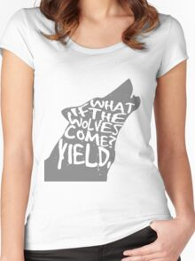 what if the wolves come? Women's Fitted Scoop T-Shirt